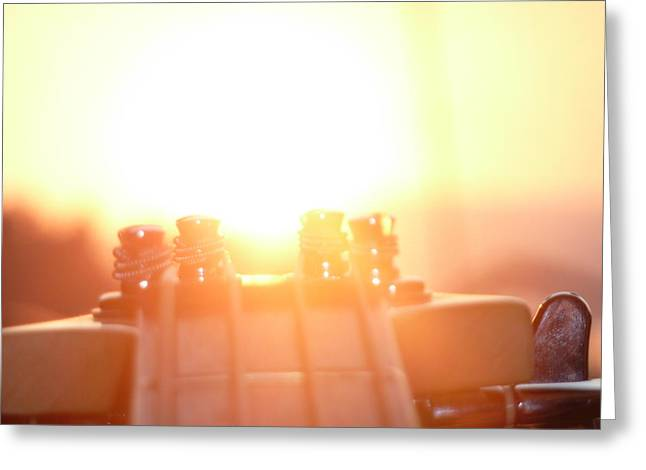 Digital Glass Greeting Cards - Sunset Over Bass Greeting Card by Ryan Benson