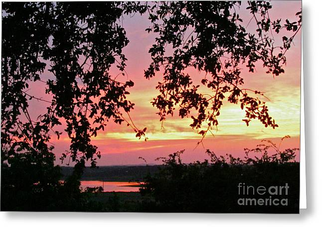 Randi Shenkman Greeting Cards - Sunset over Canyon Lake Greeting Card by Randi Shenkman