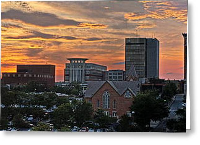 The Church Greeting Cards - Sunset over Greenville SC Greeting Card by David Kennedy