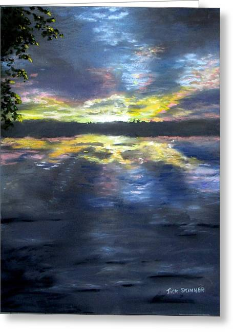 Jack Skinner Greeting Cards - Sunset Over Mystic Lakes Greeting Card by Jack Skinner