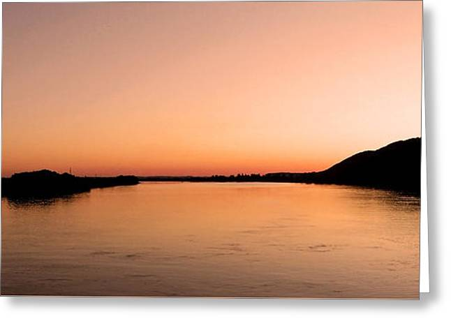 Sunset Over The Danube ... Greeting Card by Juergen Weiss