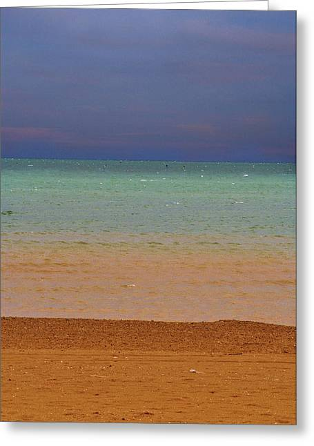 Mediterranean Landscape Digital Art Greeting Cards - Sunset over the Mediterranean Greeting Card by Ellen Heaverlo