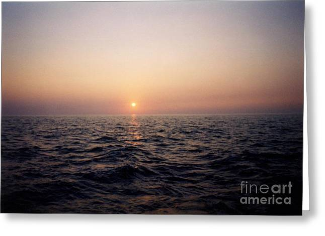 Thomas Luca Greeting Cards - Sunset over the Ocean Greeting Card by Thomas Luca