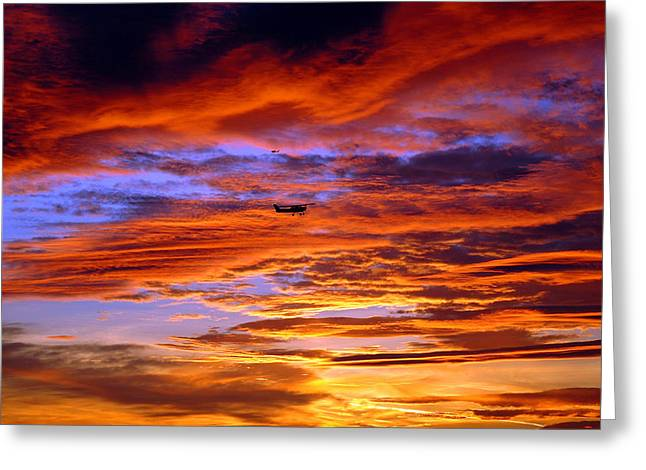 Sunset Pattern Greeting Card by Dan Myers