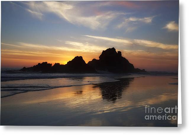 Pfeiffer Beach Greeting Cards - Sunset Pfeiffer Beach - Big Sur Greeting Card by Donald Withers