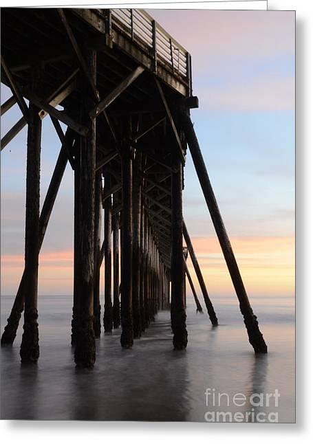 San Simeon Greeting Cards - Sunset Pier California 3 Greeting Card by Bob Christopher