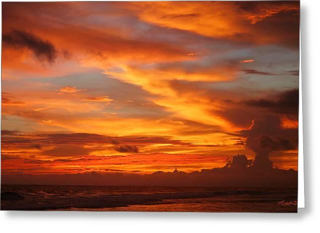 Sunset Playa Hermosa Costa Rica Greeting Card by Michelle Wiarda