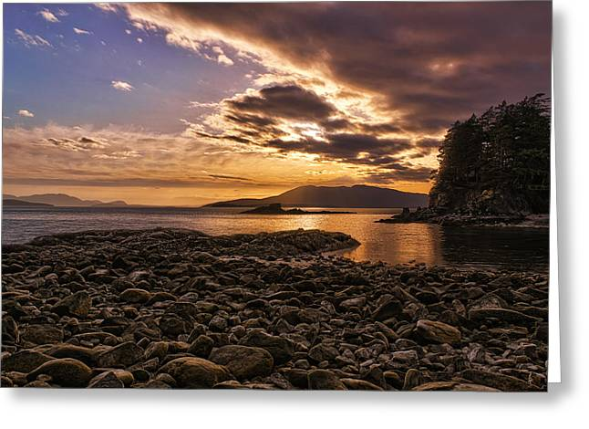 Beaches In Washington Greeting Cards - Sunset Radiance Greeting Card by James Heckt