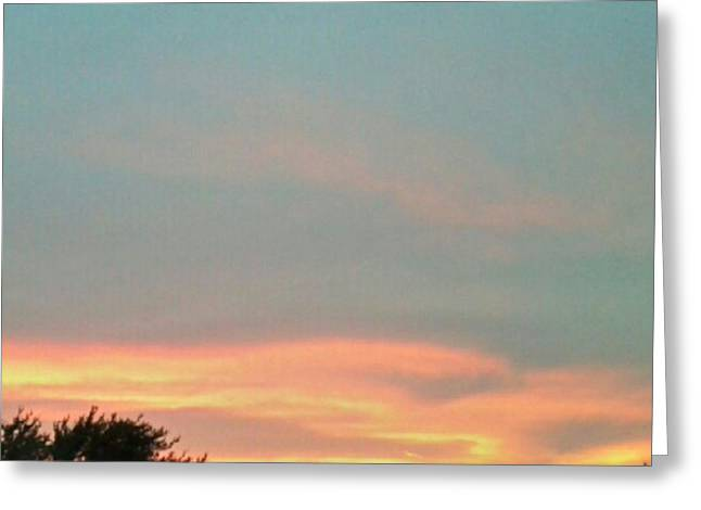 #sunset Redux #instadroid #andrography Greeting Card by Kel Hill
