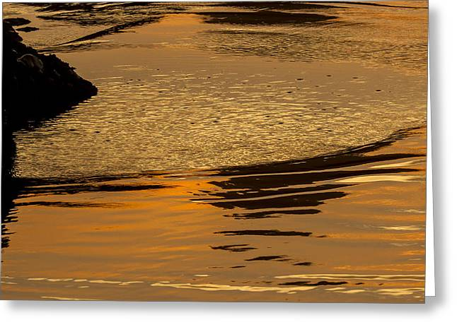 Jean Noren Greeting Cards - Sunset Reflected. Greeting Card by Jean Noren