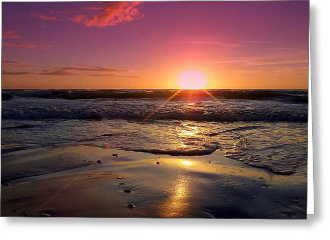 Nature Phots Greeting Cards - Sunset Reflected Shallow Greeting Card by Jeremy Smith
