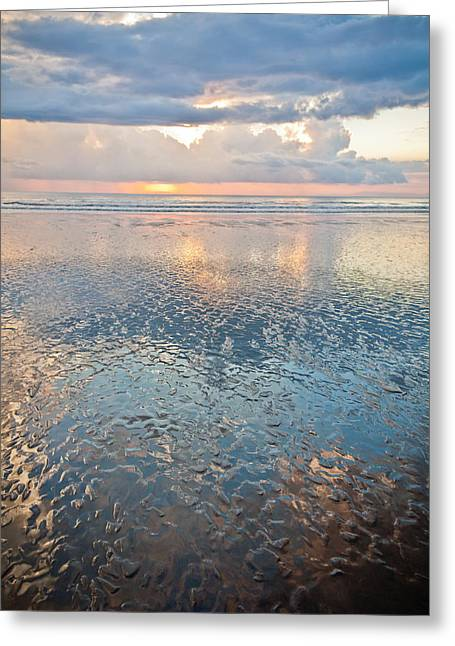 Costa Greeting Cards - Sunset Reflection - Small Ripples Greeting Card by Anthony Doudt