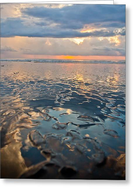 Costa Greeting Cards - Sunset Reflection Greeting Card by Anthony Doudt