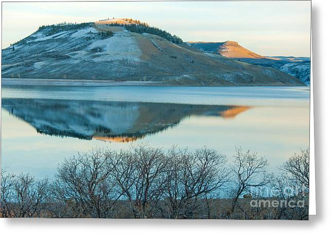 Reflections In River Greeting Cards - Sunset Reflection Greeting Card by David Waldrop