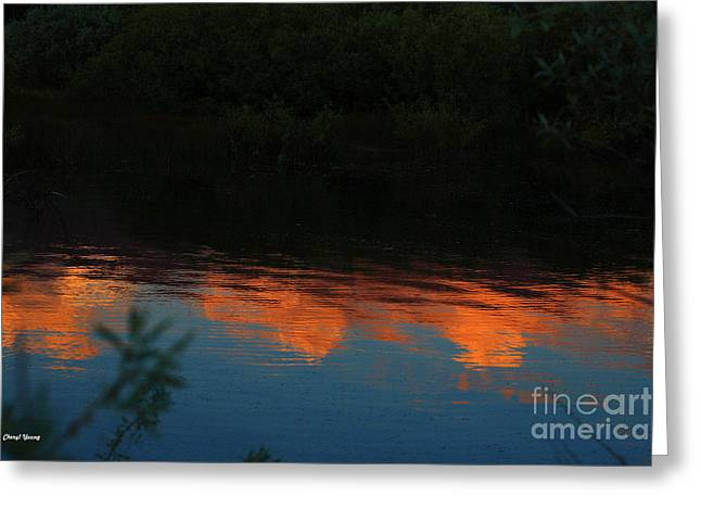 South Lake Tahoe Greeting Cards - Sunset Reflections Greeting Card by Cheryl Young