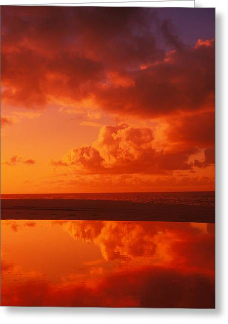 Vince Greeting Cards - Sunset Reflections Greeting Card by Vince Cavataio - Printscapes