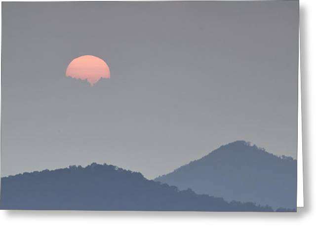 Sunset Repition - Blue Ridge Parkway Sunset Scene Greeting Card by Rob Travis