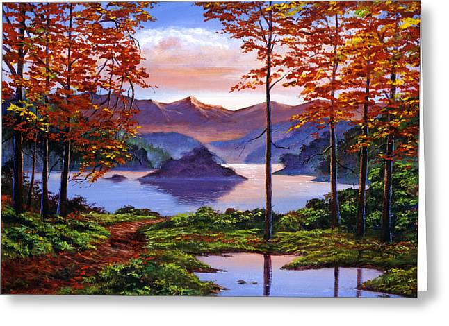 Most Viewed Greeting Cards - Sunset Reverie Greeting Card by David Lloyd Glover