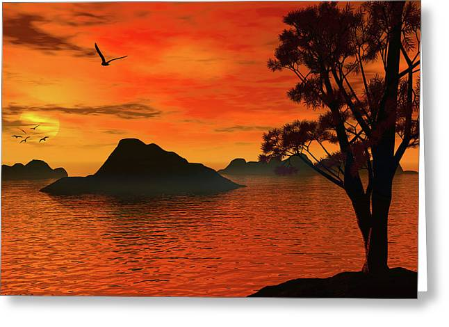 Sunset Serenade Greeting Card by Lourry Legarde