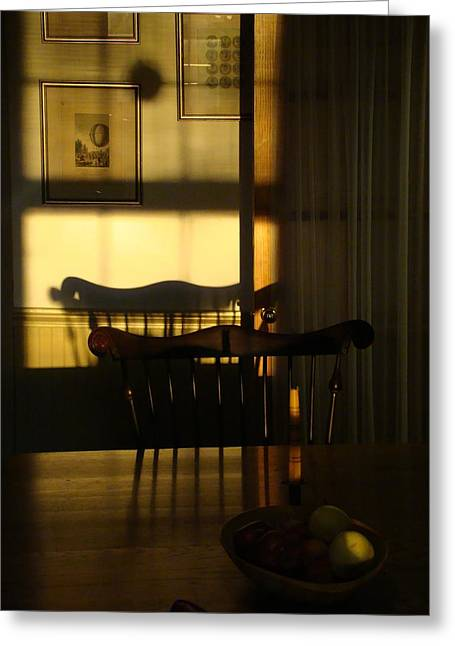 Windsor Chair Greeting Cards - Sunset shadows Greeting Card by Mark Haley