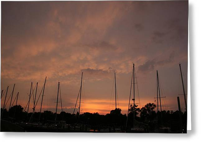 Sunset Sky Annapolis Greeting Card by Valia Bradshaw
