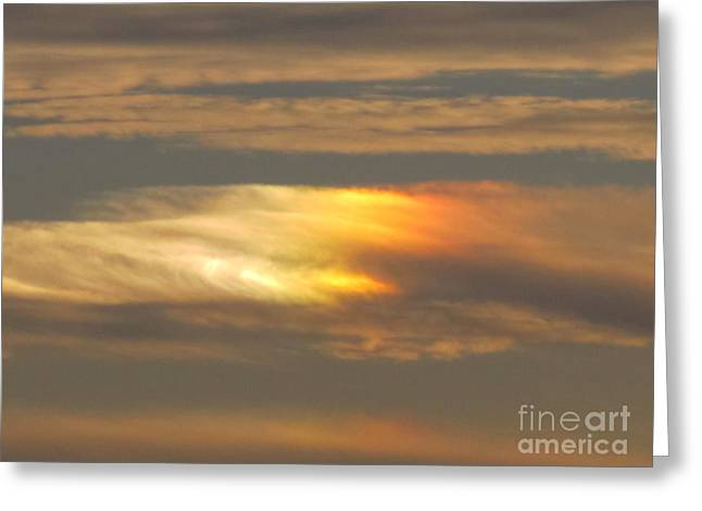 Beautiful Clouds Pyrography Greeting Cards - Sunset Sky Over Chesapeake Bay Greeting Card by Valia Bradshaw