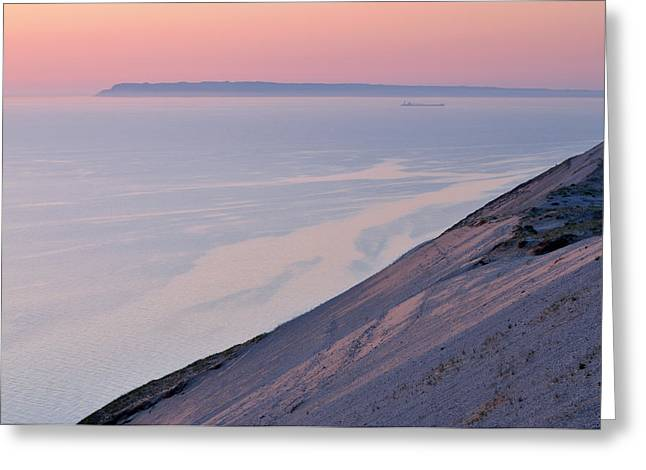 Sand Patterns Greeting Cards - Sunset Sleeping Bear Dunes Greeting Card by Dean Pennala