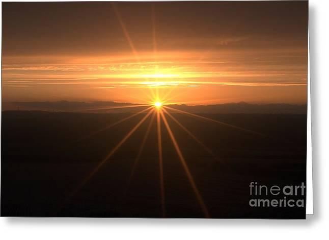 Sunset Star Greeting Card by Stephen Clarridge