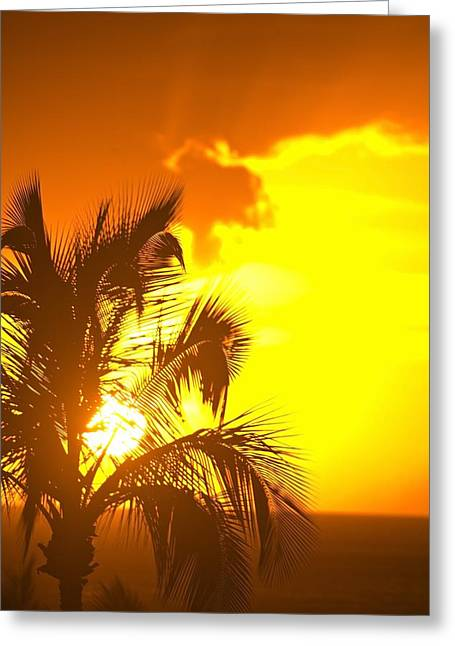 Peaceful Scenery Greeting Cards - Sunset, Wailea, Maui, Hawaii, Usa Greeting Card by Stuart Westmorland