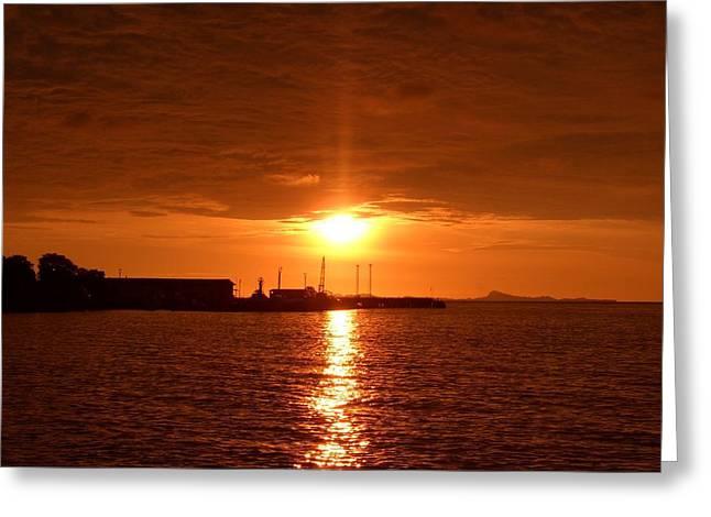 Sunset  Greeting Card by Zulfidar Aiyub