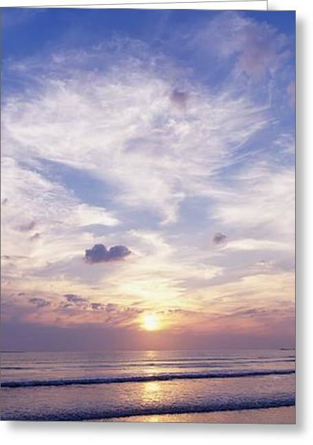Ocean Panorama Greeting Cards - Sunsets Over The Beach, Magheraroarty Greeting Card by The Irish Image Collection