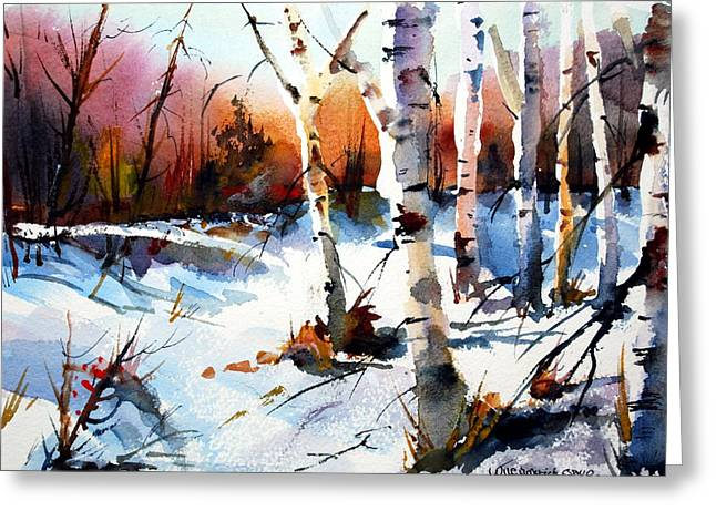 Illuminates Greeting Cards - Sunshine and Birch Greeting Card by Wilfred McOstrich