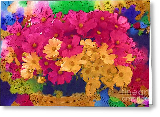 Sunshine In A Basket Greeting Card by Marion Headrick