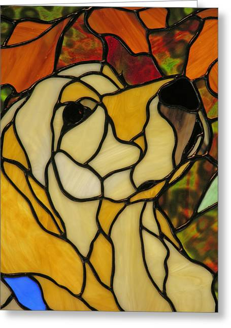 Golden Glass Art Greeting Cards - Sunshine Greeting Card by Ladonna Idell