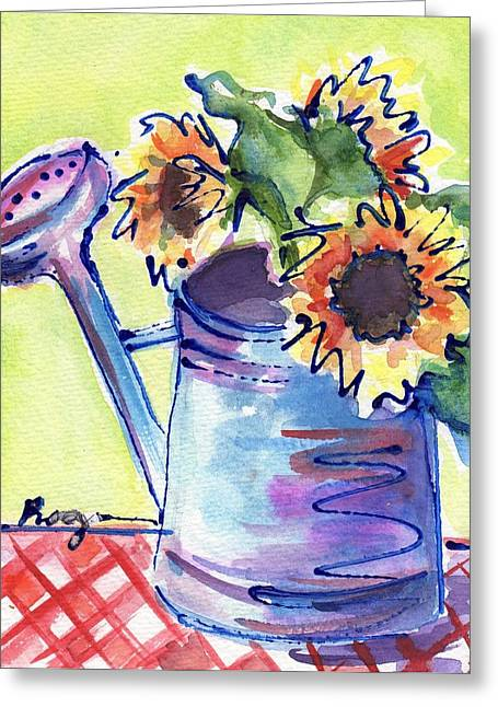 Green And Yellow Greeting Cards - Sunshiny Day Greeting Card by Judy  Rogan