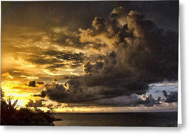 Top-end Greeting Cards - Sunstorm Greeting Card by Douglas Barnard