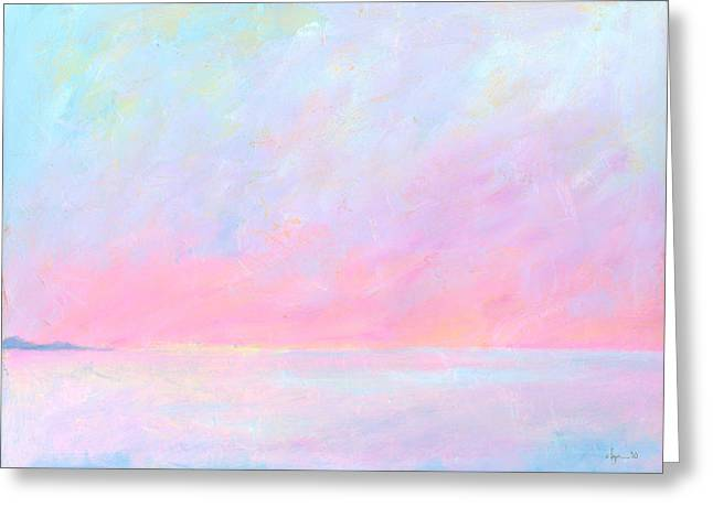 Ocean Artist Greeting Cards - Sunup Over Kailua Greeting Card by Angela Treat Lyon