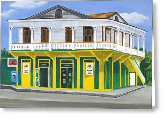 Rincon Paintings Greeting Cards - Supermercado Ayala Greeting Card by Maureen Schmidt
