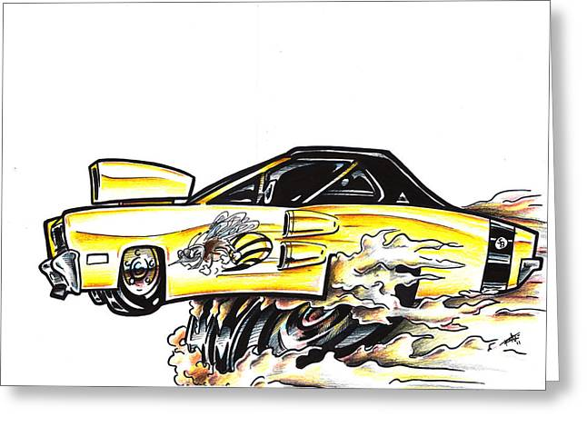 I Roate This Drawings Greeting Cards - Super Bee Greeting Card by Big Mike Roate