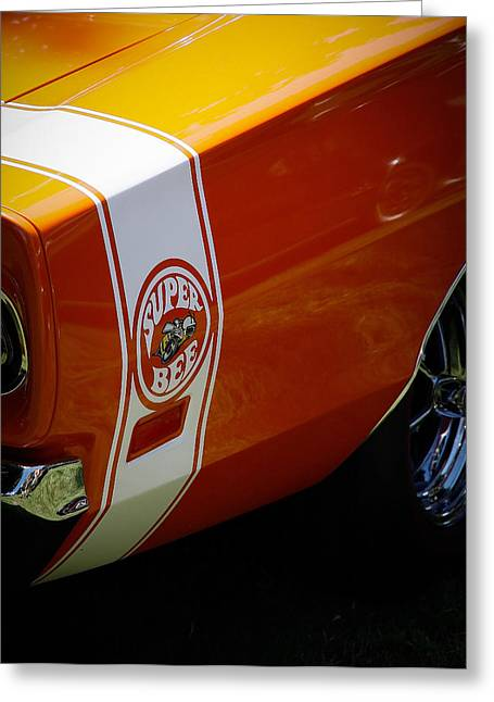 Dodge Super Bee Emblem Greeting Cards - Super Bee Greeting Card by Steve McKinzie