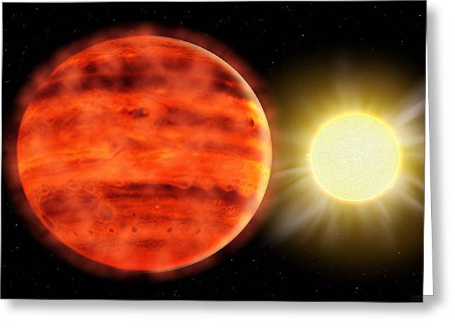 Alien Worlds Greeting Cards - Super-jovian Planet Greeting Card by Chris Butler