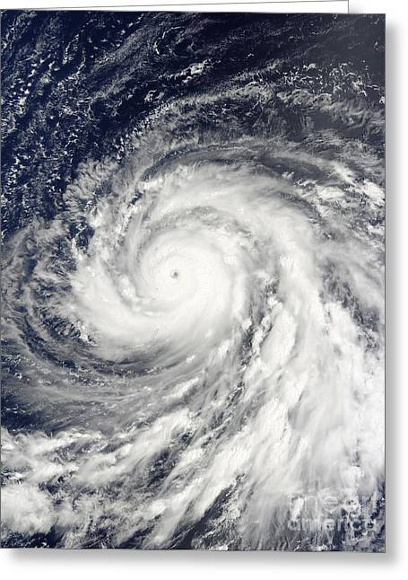 Mariana Greeting Cards - Super Typhoon Choi-wan Over The Mariana Greeting Card by Stocktrek Images