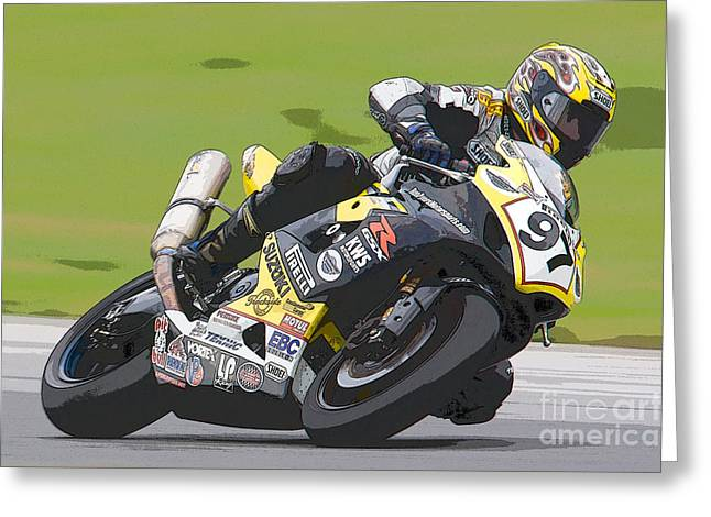 Superbike Racer II Greeting Card by Clarence Holmes