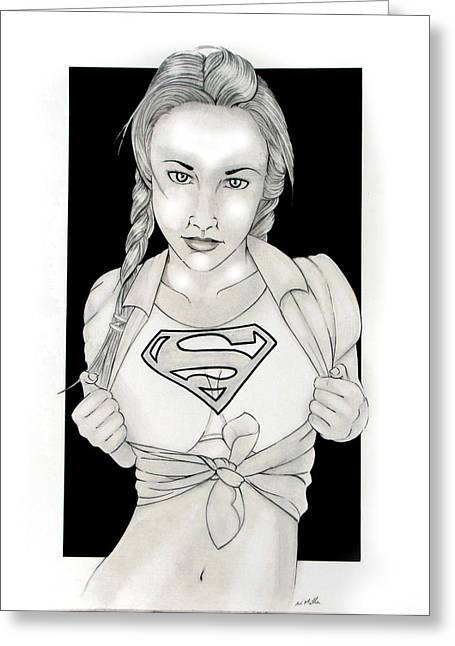 Supergirl Greeting Cards - Supergirl Greeting Card by Nathan  Miller