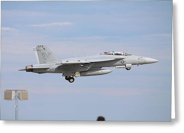 Kevin Schrader Greeting Cards - Superhornet Takeoff Greeting Card by Kevin Schrader