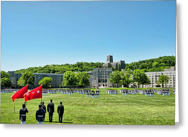 West Point Greeting Cards - Superintendents Review Wide Angle Greeting Card by Dan McManus
