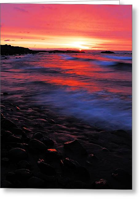 Lhr Images Greeting Cards - Superior Sunrise Greeting Card by Larry Ricker