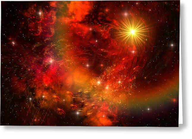 Interstellar Space Greeting Cards - Supernova Greeting Card by Corey Ford