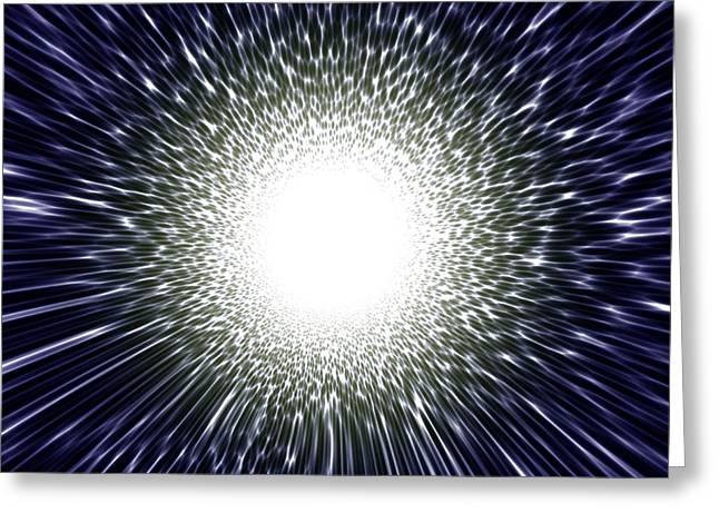 Star Death Greeting Cards - Supernova Explosion, Artwork Greeting Card by Mehau Kulyk
