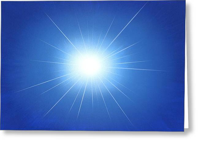 Star Evolution Greeting Cards - Supernova Explosion, Artwork Greeting Card by Richard Bizley